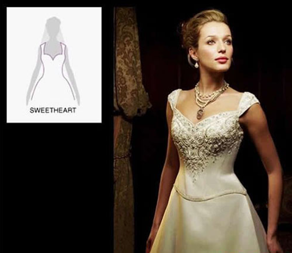 How to choose a wedding dress with a special neckline for Wedding dresses for large breasts