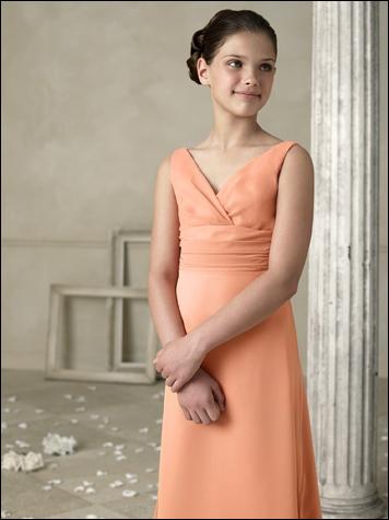 chiffon junior bridesmaid dresses