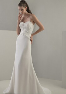 concise wedding dress