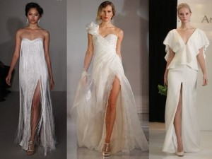 front slit wedding dresses