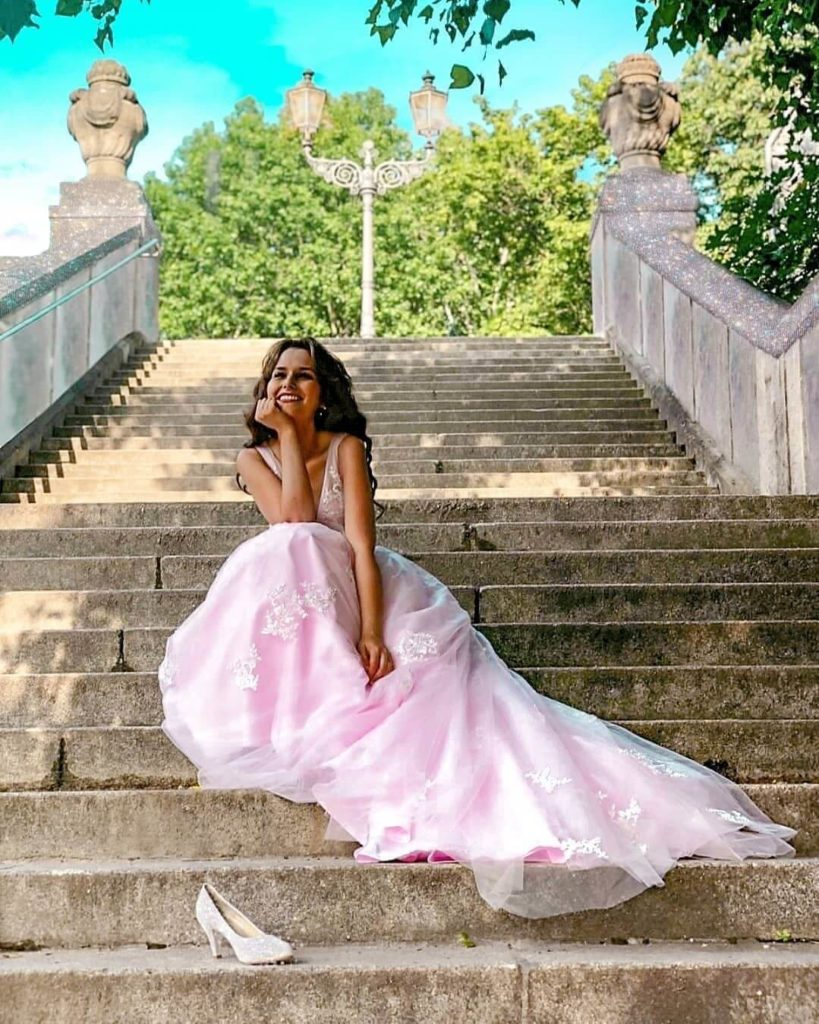 Dashing Pink Wedding Gown for a Young and Ultra-Feminine Look
