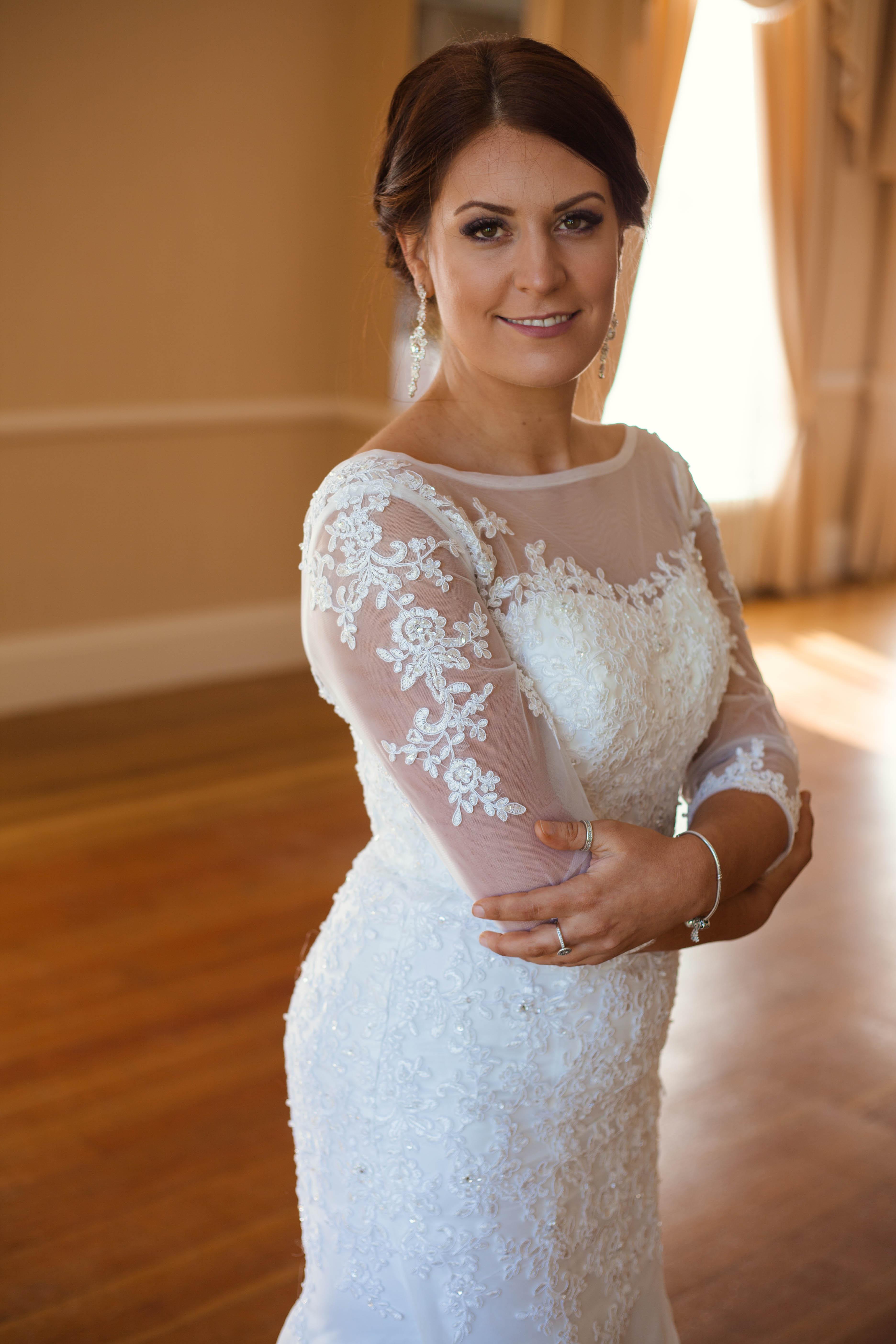 Model Showcase   Mermaid Scoop Neck Lace Wedding Dress   JJsHouse