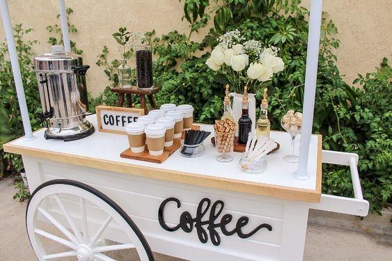 Wedding Reception Menu - Coffee Bar to Boost Energy