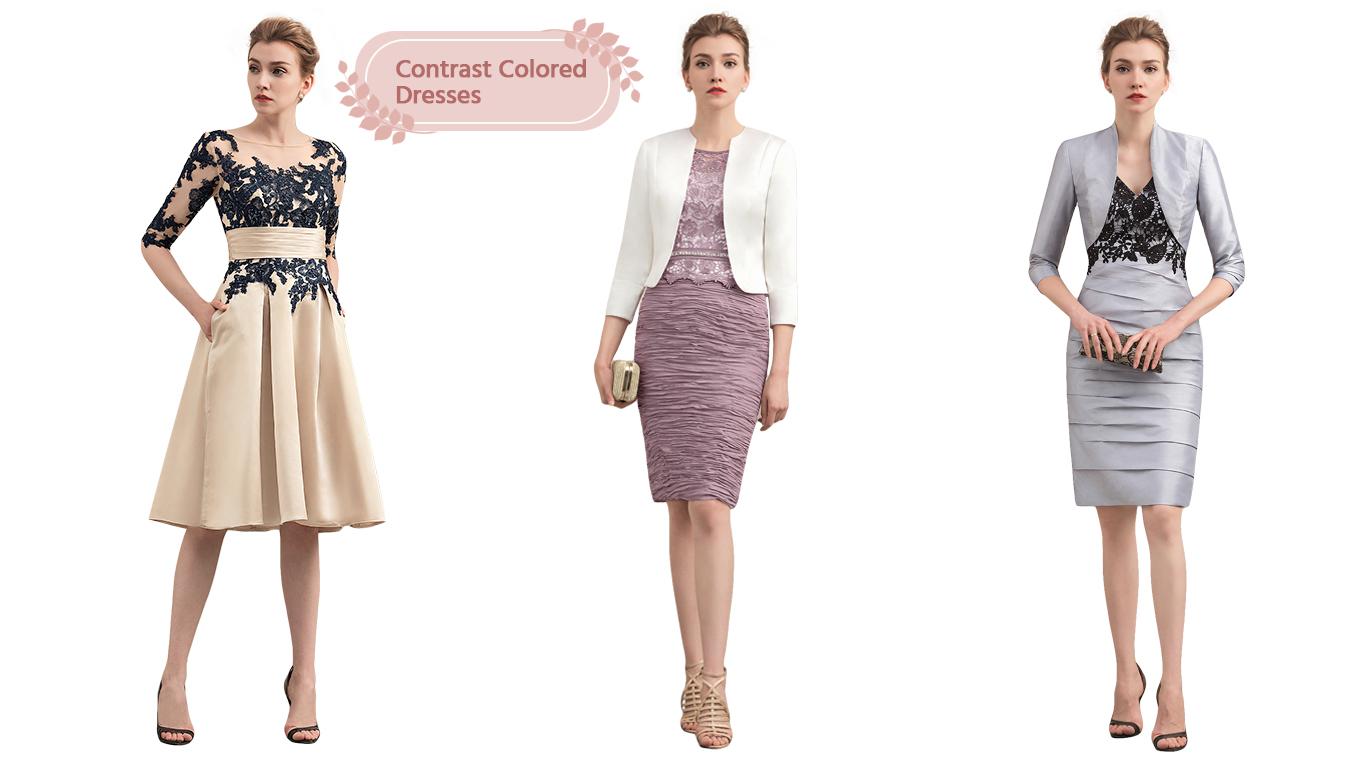 Contrast Color Dress
