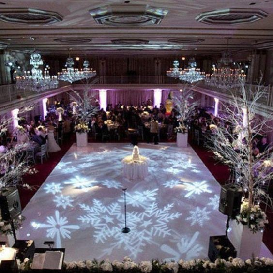Fascinating Winter Wonderland Inspired Wedding Decoration