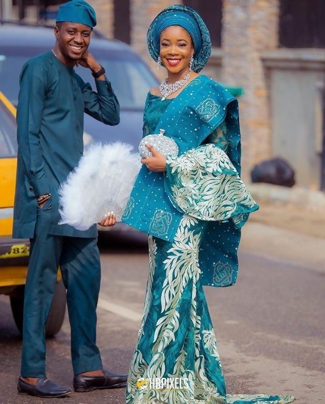 Nigerian 5-Piece Wedding Dress