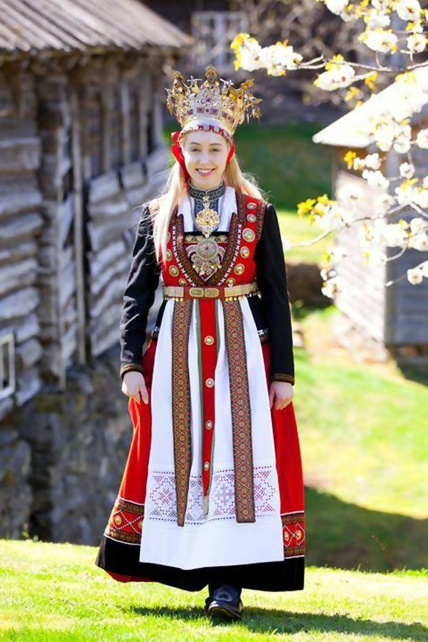 Embroidered Norway Wedding Dress