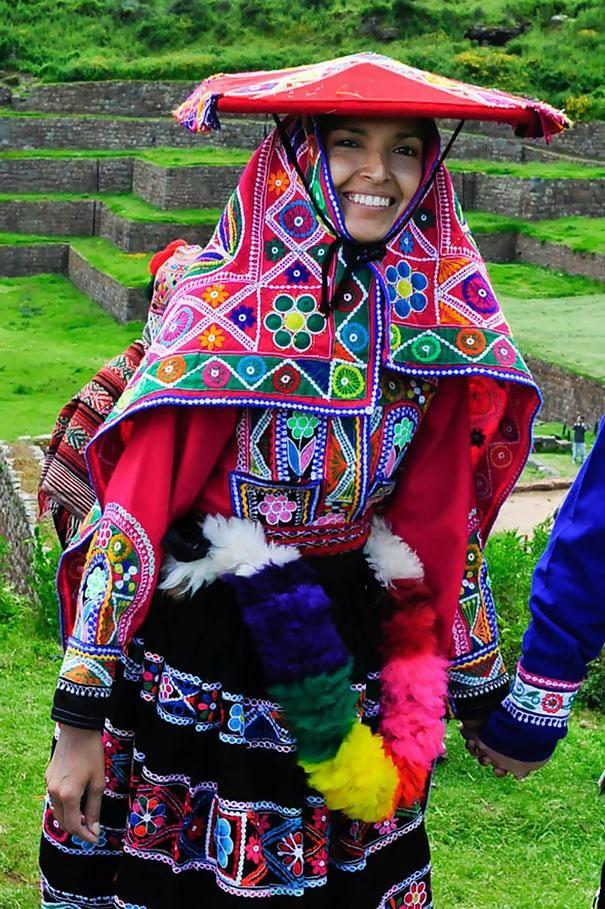 Colorful Wedding Dress in Peru