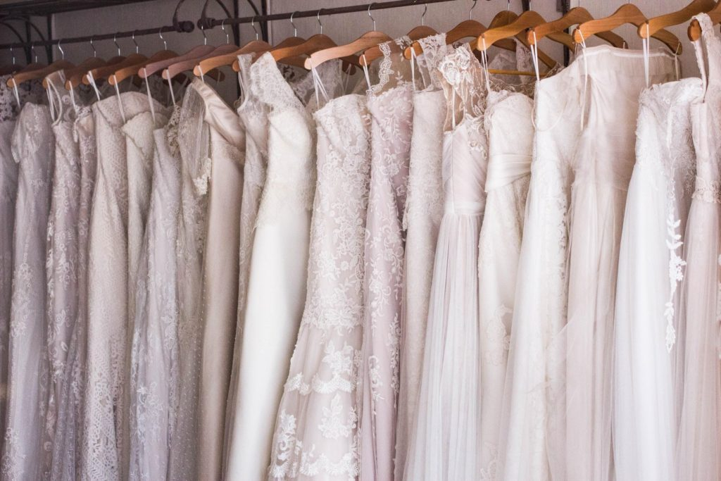 wedding dresses in different shapes