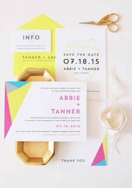 Fashion Trend Neon Wedding Inspirations