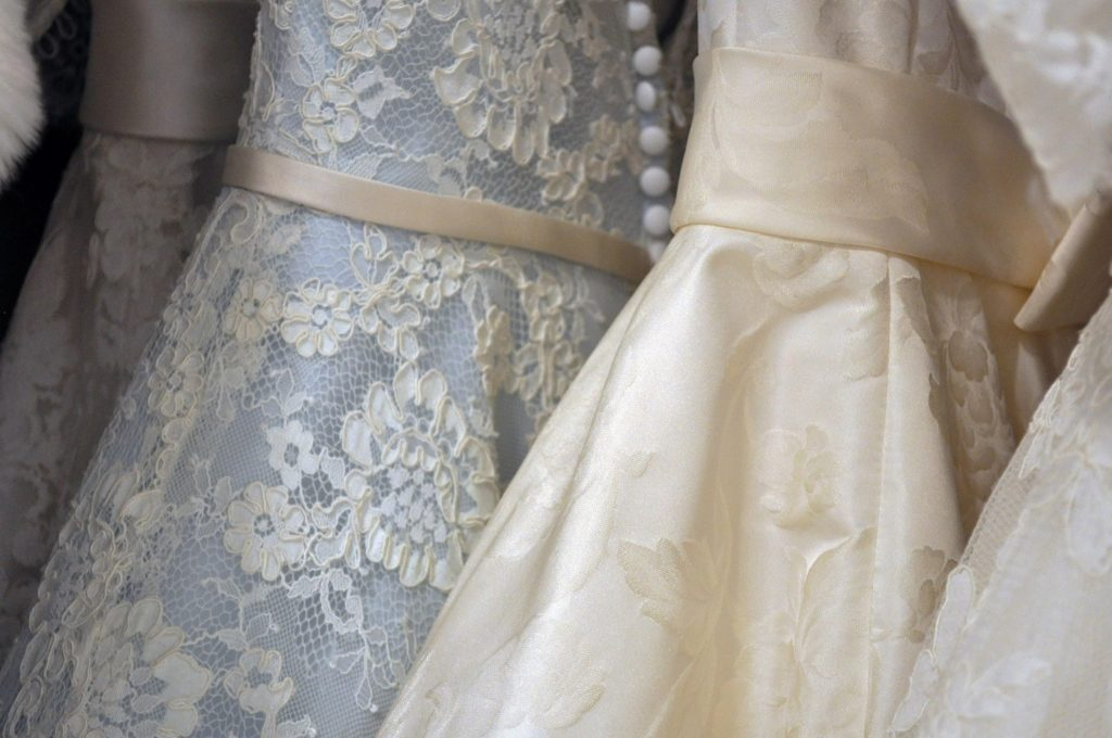 the details of wedding gowns