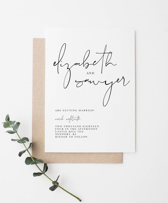 Classic yet Timeless Wedding Invitations