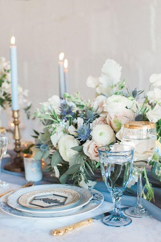Incredibly Cool All Blue Summer Wedding