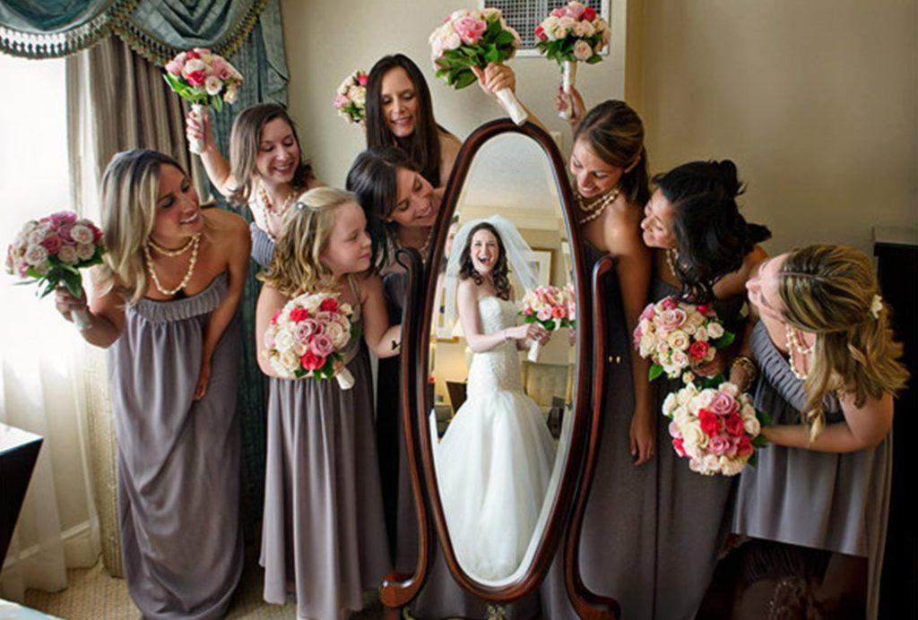 Bridal Party Roles - Mirror Reflection Photos