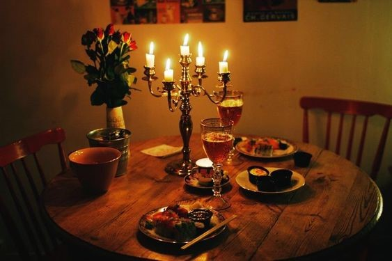 Candlelight Dinner Date at Home