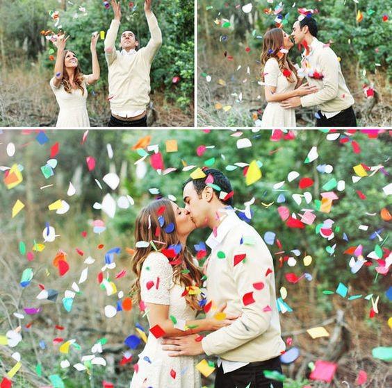 Confetti Shots to Celebrate Togetherness