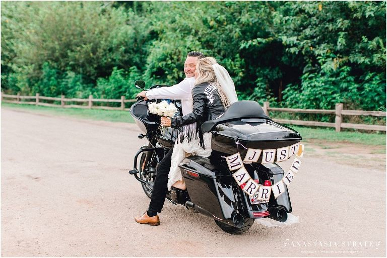 Elopement on Motorcycle in Austin