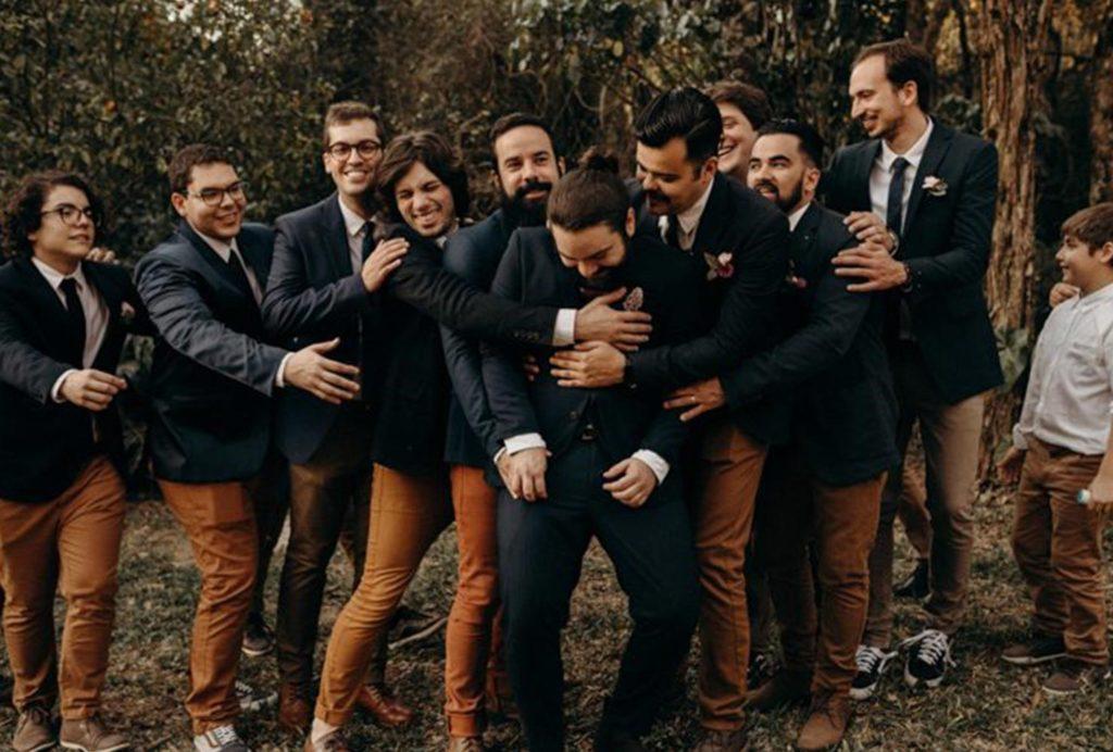 Wedding Party Group Hugs
