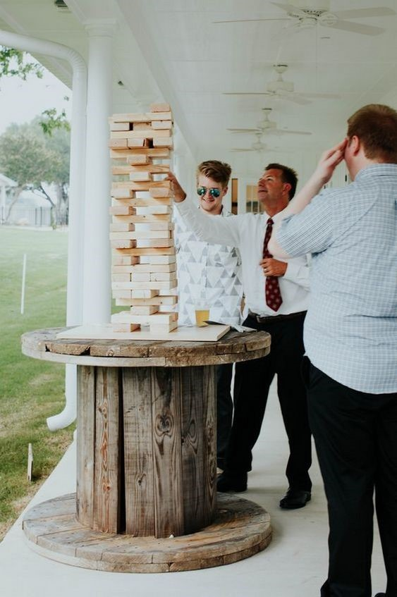 Classic Jenga Game for a Fun Wedding Reception