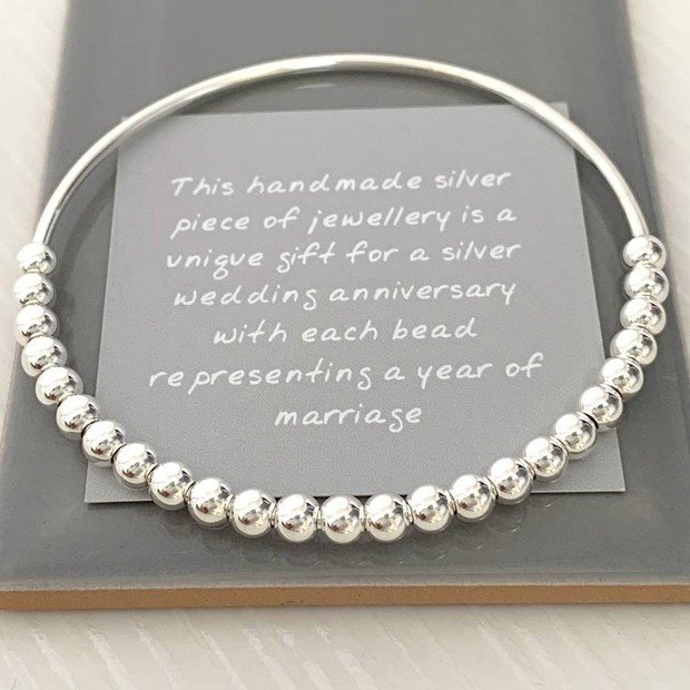 Handmade Silver Jewelry for a Silver Wedding Anniversary
