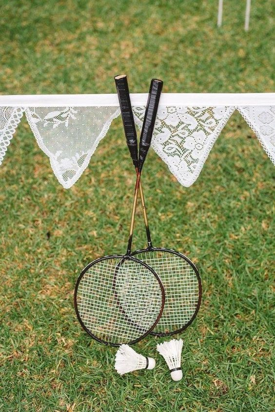Interesting Wedding Badminton Game
