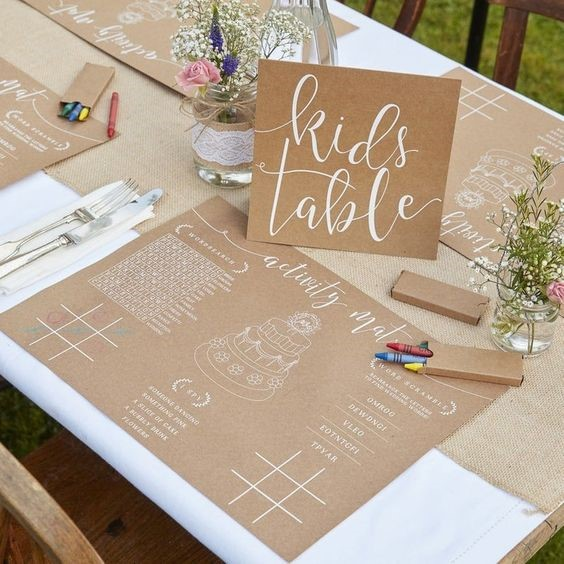 Kid Table at Wedding for Pleasing Little Guests