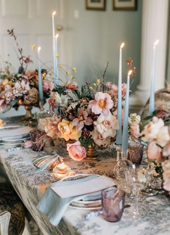 Romantic and Vintage Spring Wedding Color