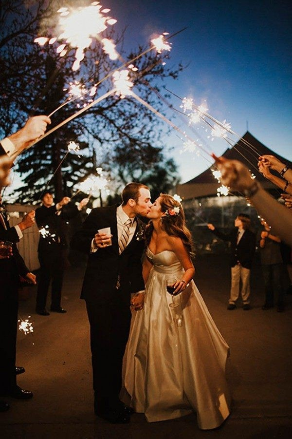 Wedding Sparkles for a Romantic Send-off Moment