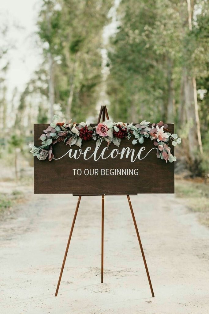 Welcome to our Beginning Wedding Signage