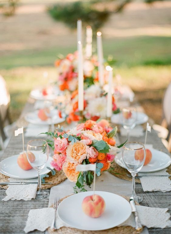 Active and Cute Peach Color Wedding Theme