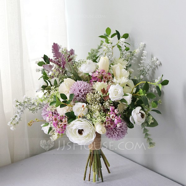 Blooming Free-Form Silk/Cloth Bridal Bouquets
