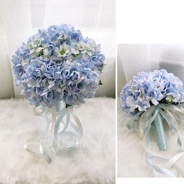 Comely Round Cloth Bridesmaid Bouquets