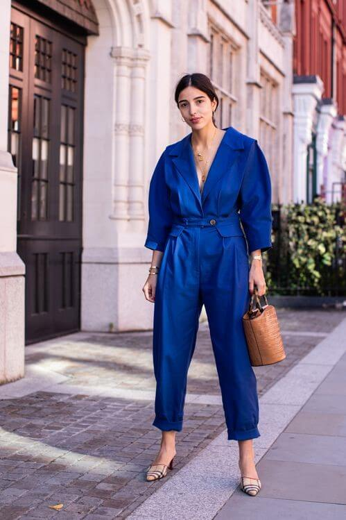 Easy to Wear Classic Blue Jumpsuit