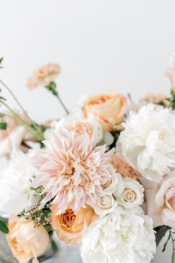 Elegant Pastal Dahlia Wedding Decoration