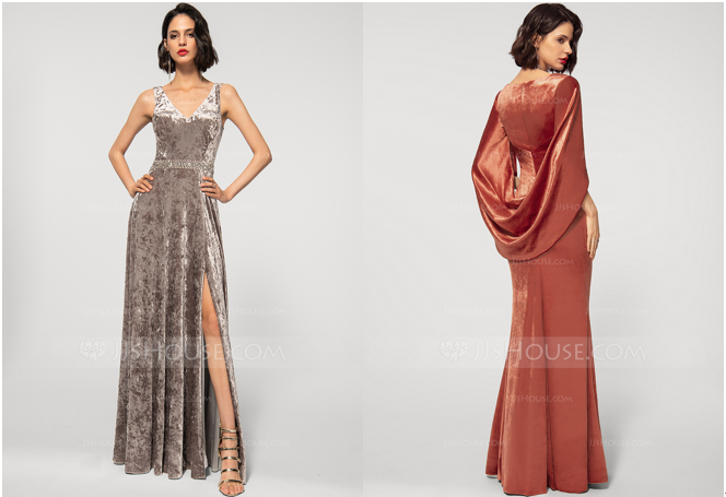 Fall Evening Dresses 2020 Made from Luxurious Velvet