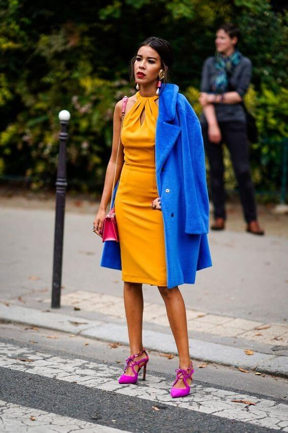 Interesting Color Block OutFit with Classic Blue