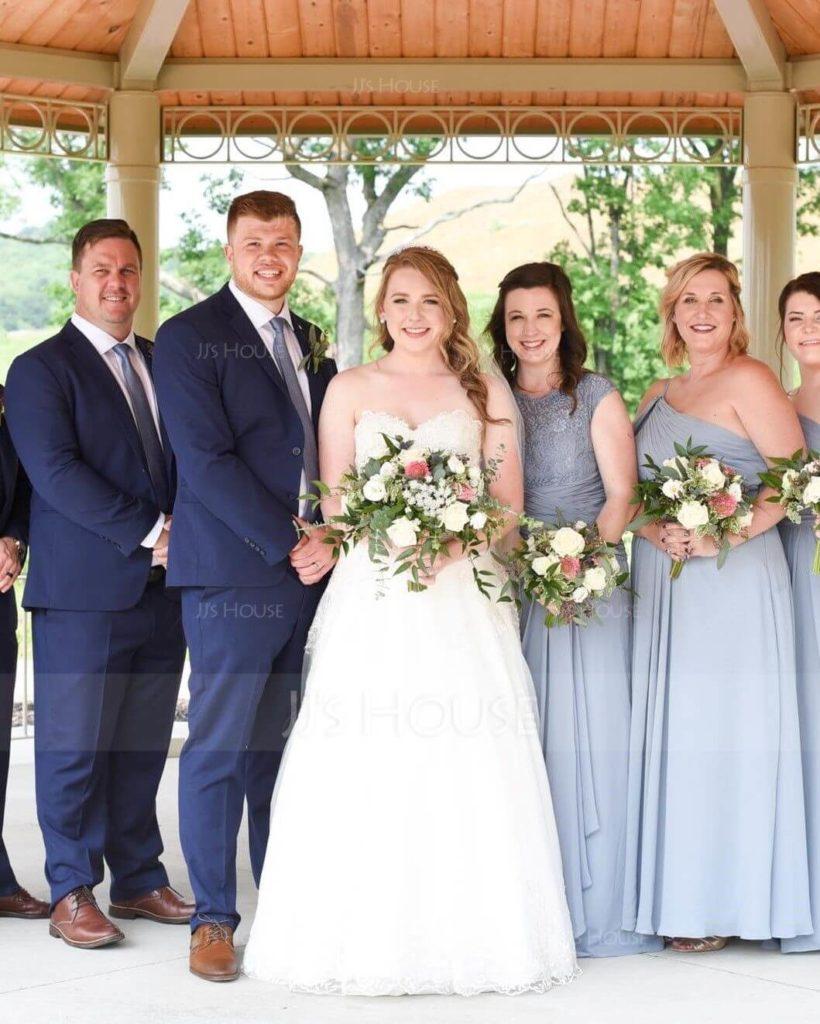 Modern Dusty Blue Bridesmaid Dresses