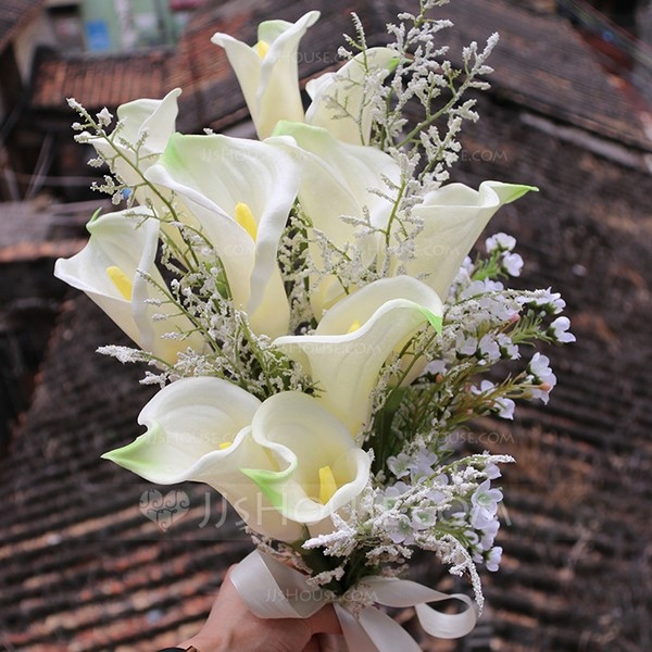 Refined Free-Form Silk Flower Bridal Bouquets