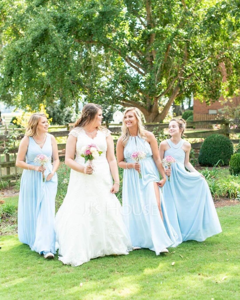 Sweet Sky Blue Bridesmaid Dresses