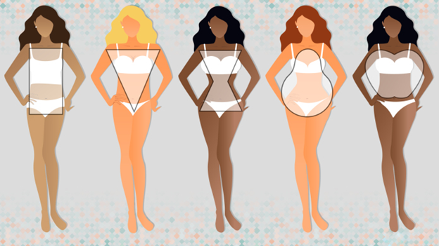 Body shapes are shown off on different women