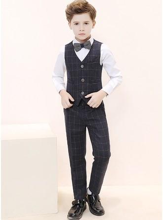Boys 4 Pieces Elegant Ring Bearer Suits /Page Boy Suits With Shirt Vest Pants Bow Tie