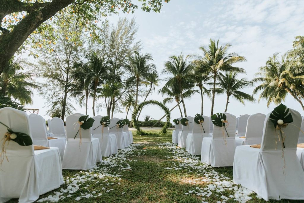 Green and White Forest Wedding Theme
