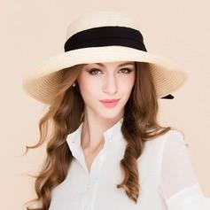 Ladies' Fashion Rattan Straw Straw Hat/Beach/Sun Hats/Kentucky Derby Hats