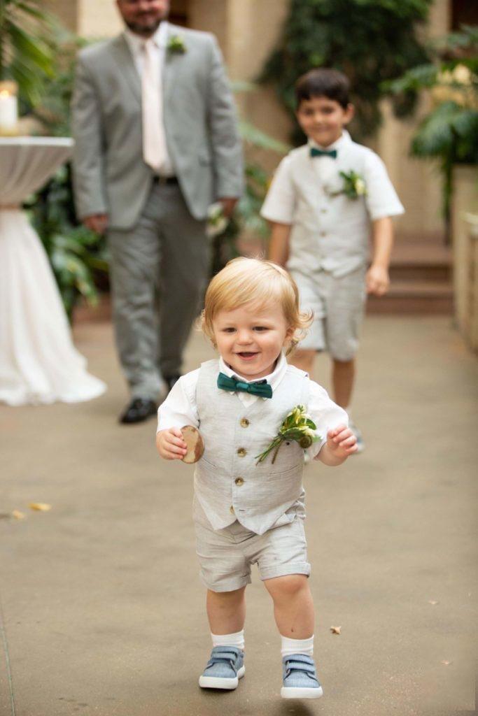 Little boy ring bearer
