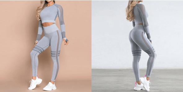 Modern/Contemporary Outdoor Nylon Sports Tee & Leggings