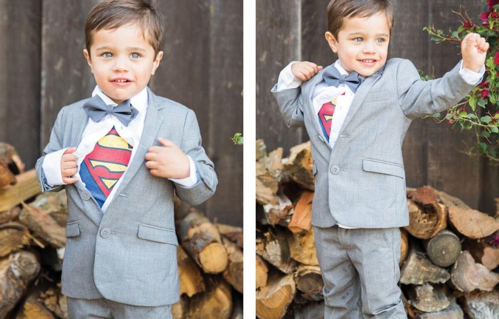 Superman ring bearer boy