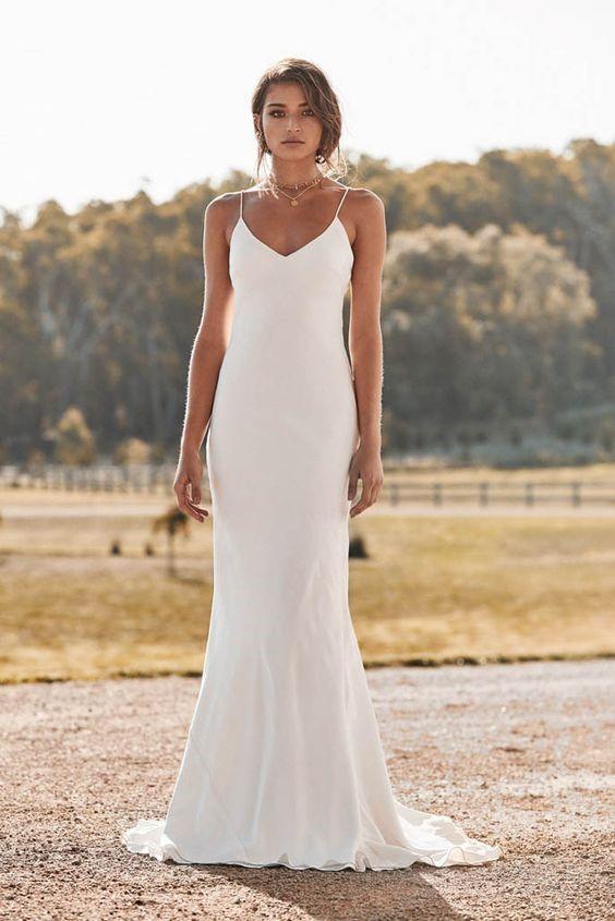 Casual Wedding Dresses - Breathtaking Slip Dresses