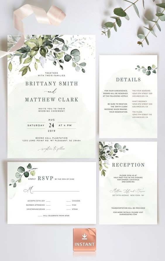 Easy-to-Read Wedding Invitation