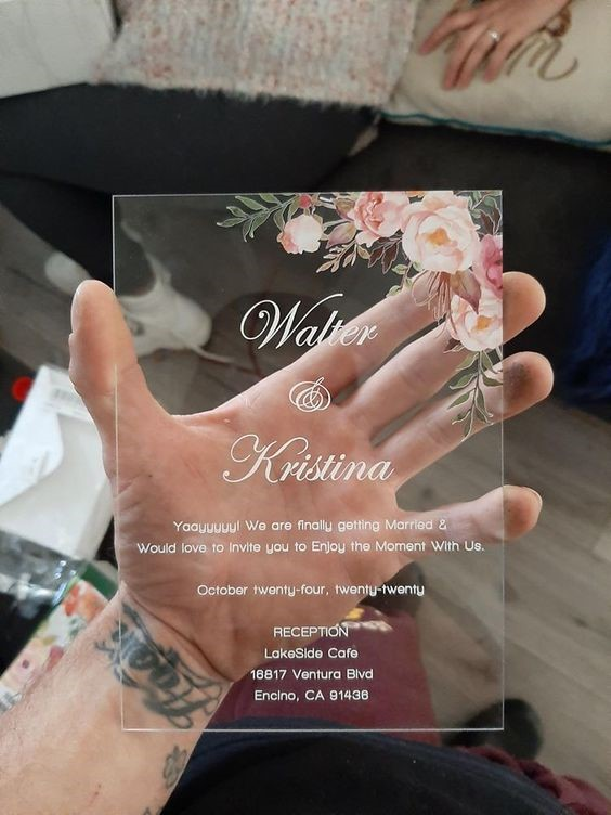 Modern Invites - Acrylic Wedding Invitation Card