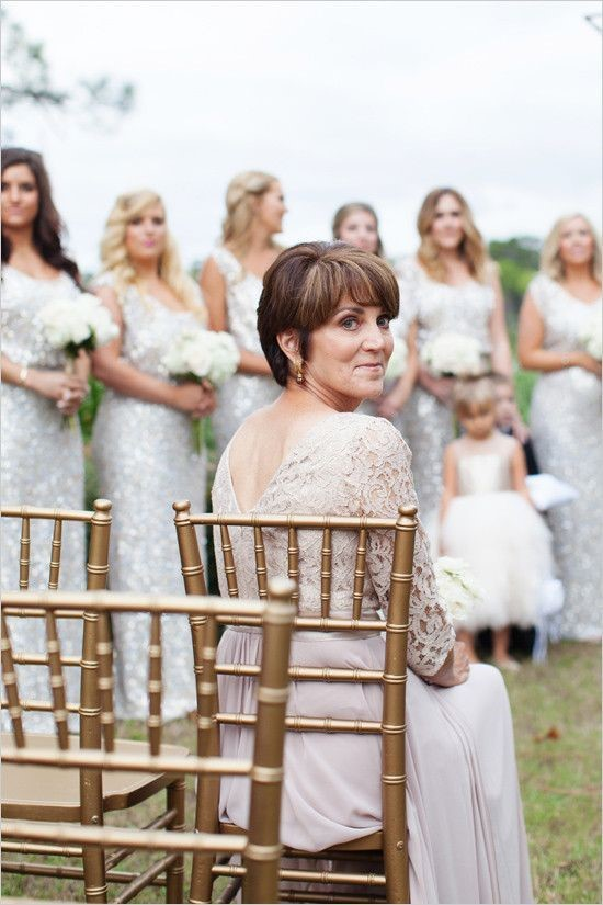 Mother of the Bride Watching Her Daughter Coming
